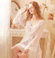 Long bathrobe nightdress