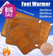 Leather Heating Foot Mat Warmer Electric Heating Pads Feet Leg Warmer Carpet Thermostat Warming Tools Home Office