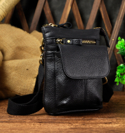 Casual leather retro wear belt multifunctional shoulder bag