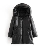 Fashion all-match cotton faux leather jacket jacket