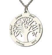 DIY custom family tree of life English alphabet necklace