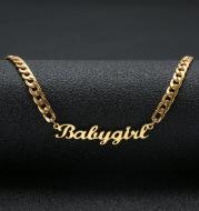 Name necklace ladies Hip hop necklace