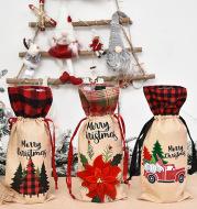Christmas decoration wine set home furnishing wine bottle set