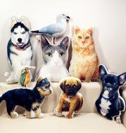 Photo Customization DIY Dog Cushion Plush Toys Dolls Stuffed Animal Pillow