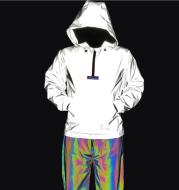 Men Night Reflective Hip Hop Jacket