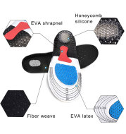 Unique Honeycomb Cuttable Insole Ortho​tic Arch Support Sport Shoe Pad