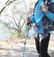 Aluminum alloy trekking pole straight handle