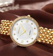 Diamond ladies quartz watch
