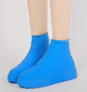 Rubber Anti-slip Waterproof Shoe Cover Reusable Rain Boot Motorcycle Bike Overshoe Blue Yellow for Men Women