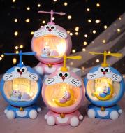 Creative blue little Ding star light flying night light gift for boys multi function piggy bank gift
