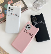 Whiskered cat mobile phone case