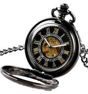 Transparent cover design, automatic mechanical pocket watch