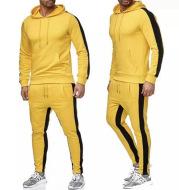 Contrast and stitching sportswear set