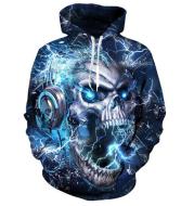 Printed Hoodies, Custom design, Skull Printed Hoodies