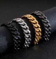 Titanium Steel Personality Cuban Chain Men's Bracelet