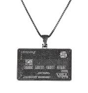 Zircon men and women necklace