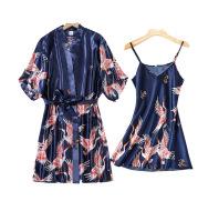 Silk crane pajamas