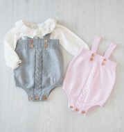 Knitted baby onesies