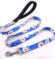 Flower training dog pet supplies printed dog leash