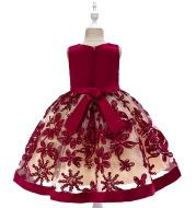 Children's dress girls applique princess dress