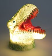 3D Dinosaur Night Lights Colorful Changing Simulation Dinosaur Lamp Halloween Funny Tricky Atmosphere Table Lamp