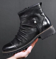 Leather shoes for men cowboy shoes  Martin boots