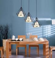 Wrought iron color diamond chandelier