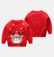 Baby round neck long sleeve sweater