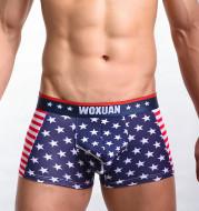 American flag printed ribbed boxers