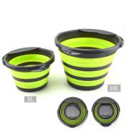 Folding multifunctional silicone bucket
