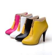 Pointed toe stiletto short single women's Martin boots