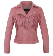 Factory direct selling women''s jacket autumn and winter European and American women''s Lapel tassel suede coat leather jacket women''s short
