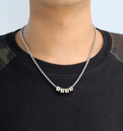 Stainless steel beaded necklace