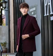 Pure color casual woolen coat men's suit