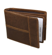 Rfid crazy horse leather short wallet