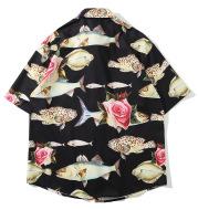 Tropical fish Hawaiian shirt holiday style shirt