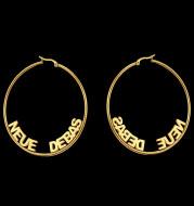 Stainless steel letter earrings custom English name earrings