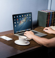 Extra large non-slip desktop computer desk leather pad