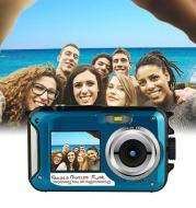 Dual-screen waterproof HD digital camera