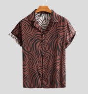Fit men shirts for new camisa Collar Business short Sleeves