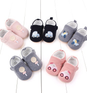 Anti-slip rubber sole baby shoes double Velcro