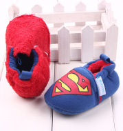 Plush knitted toddler shoes baby shoes
