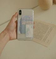 Oil painting landscape clouds mountains and rivers mobile phone case
