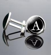Letter Cufflinks Metal Time Gem French Shirt Ornament