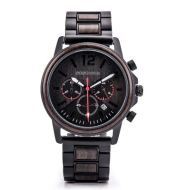 Csutomize Engrave logo Wood Watches for Mens DODO DEER Timer Luxury Chronograph Wristwatch Male Wriswatch Auto Date