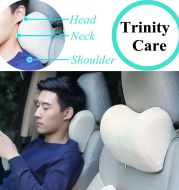 Car Headrest Neck Pillow For Seat Chair In Auto Memory Foam Cushion Fabric Cover Soft Head Rest Travel Support