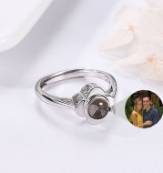Projection Ring for Women Adjustable Couple Rings Flower Shape