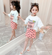 Short-sleeved T-shirt two-piece girl