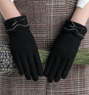 Driving touch screen wool cashmere gloves
