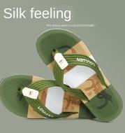Summer Massage Silk Word Drag Cool European Fashion Clamp Feet Beach Relief Totem Big Size Men Flip Flops Business Slippers